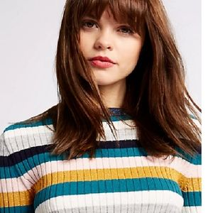 Marks and Spencer Multi Striped Jumper w/Wool NWT